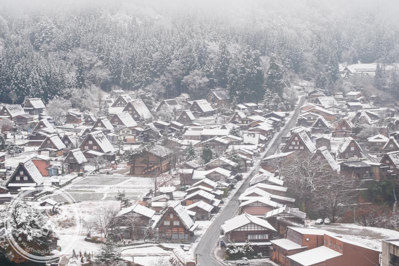 Snow at Ogimachi Village Shirakawa-go