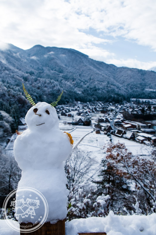 Snowman at Ogimachi Village Shirakawa-go