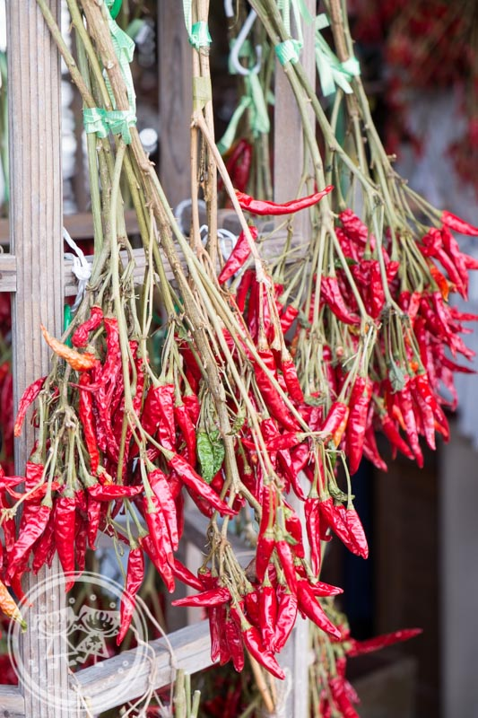 Chili drying at Ogimachi Village Shirakawa-go
