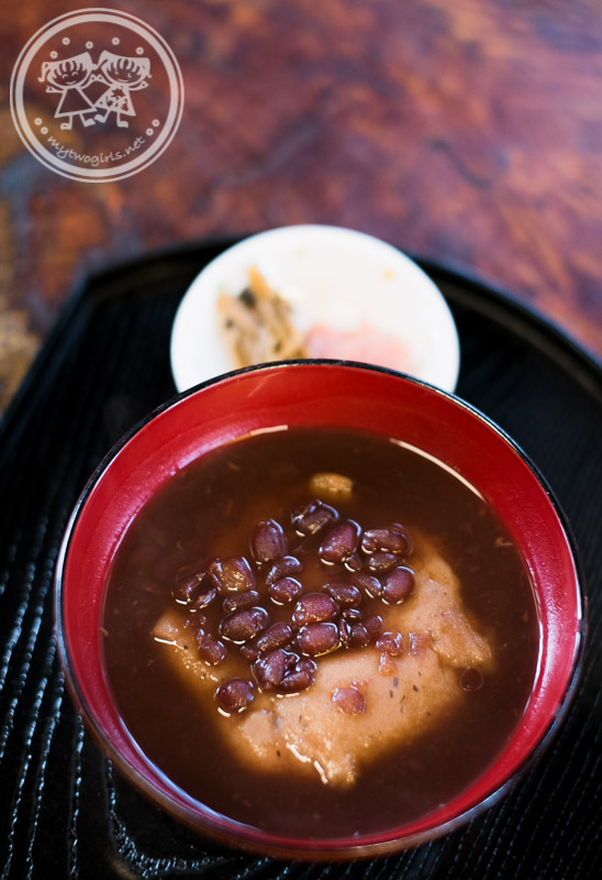 Red bean soup at Gokayama