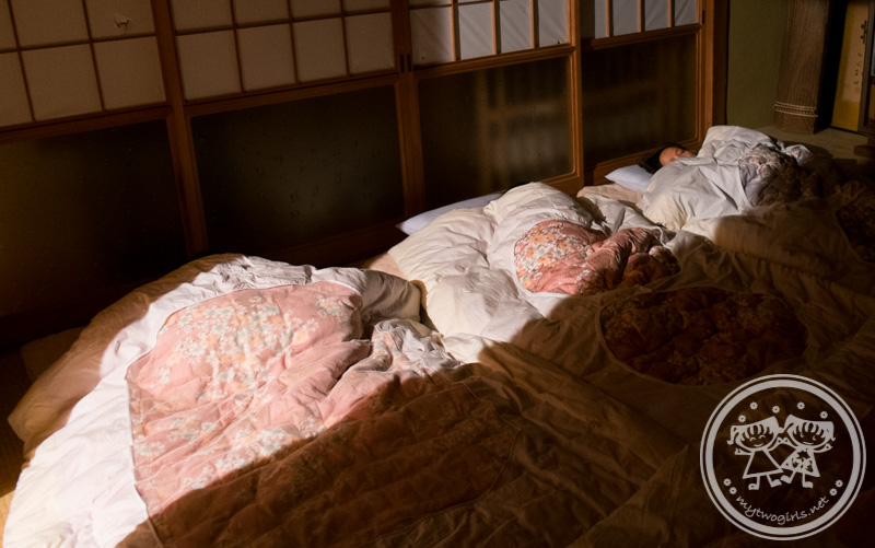 Sleeping arrangement in Shinko's house